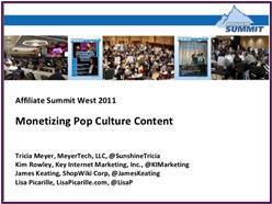 Monetizing Pop Culture Presentation